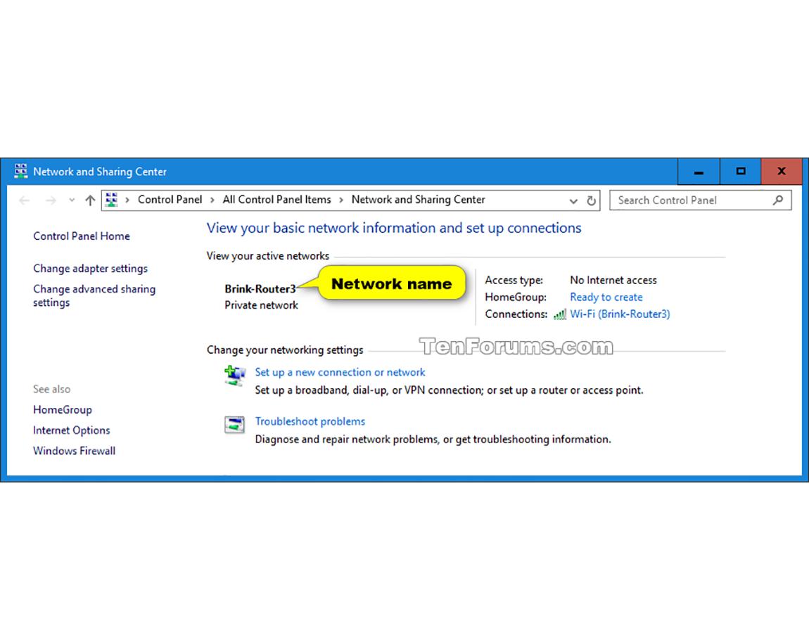 Promenite naziv profila mreže u Windows10 operativnom sistemu